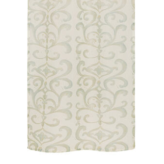 100% linen curtain with devoré print