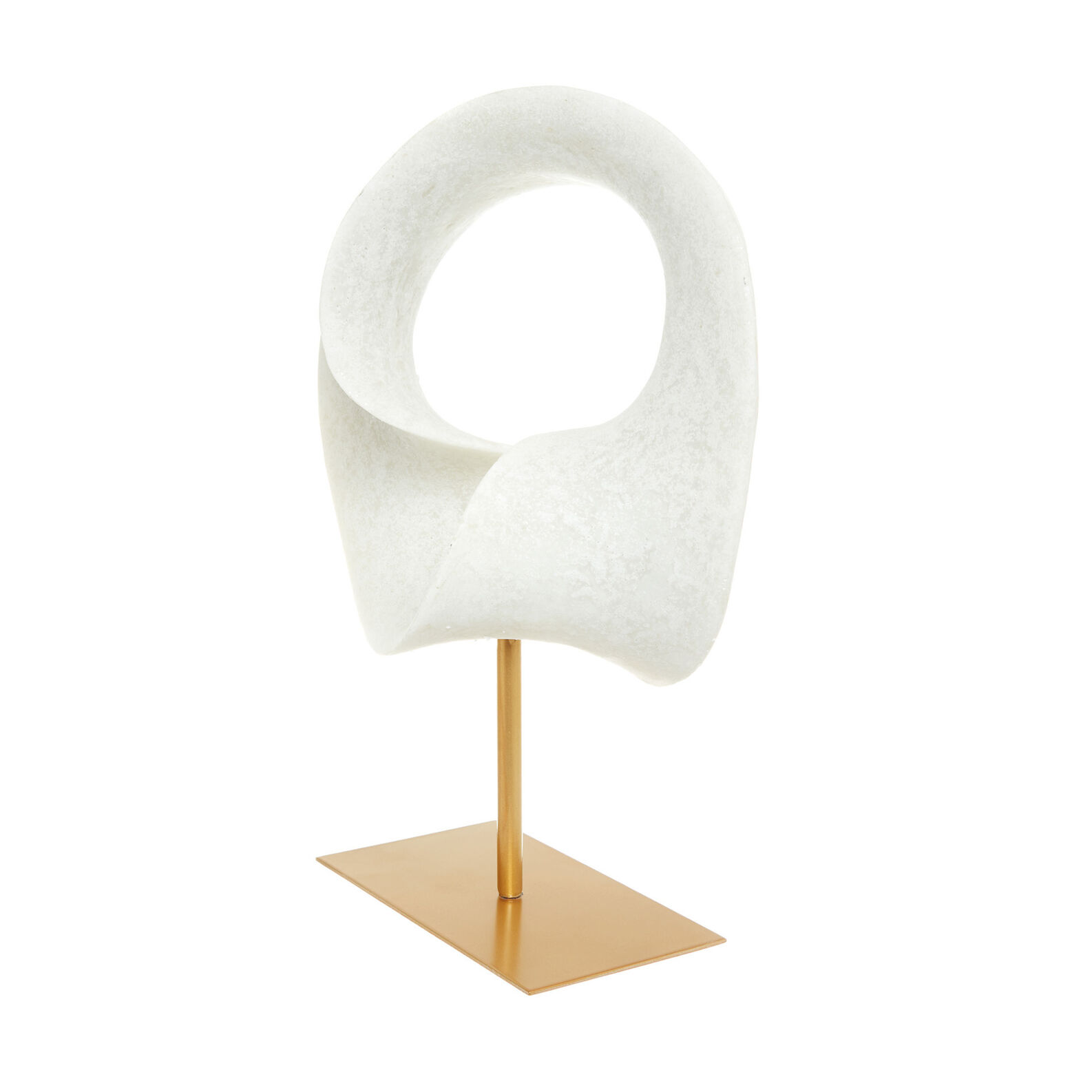 Hand-finished abstract sculpture on a stand