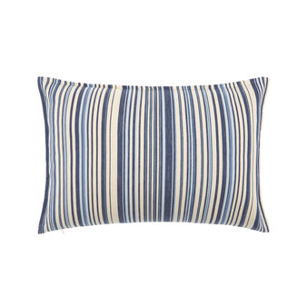 Linen blend cushion with stripes 35x55cm