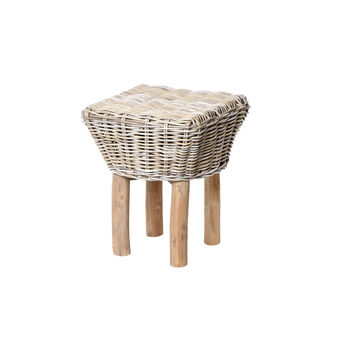 Tuamotu stool in hand-woven rattan