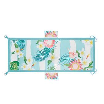 Microfibre beach towel with tropical motif