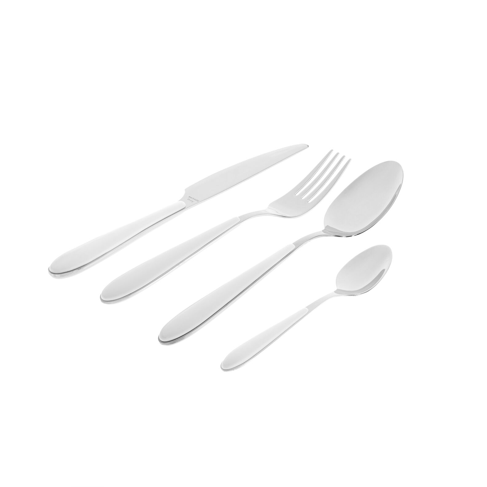 Stainless steel and plastic spoon