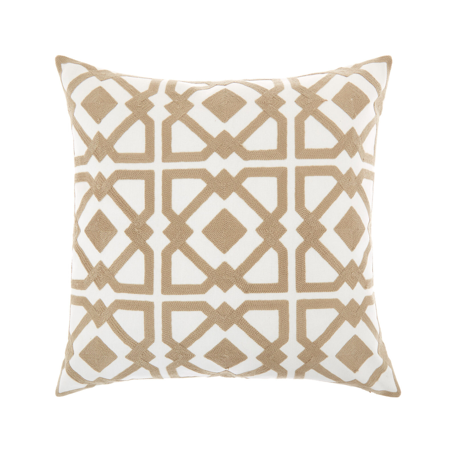 Embroidered cotton cushion (45x45cm)