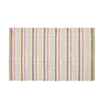 Kitchen mat with striped motif