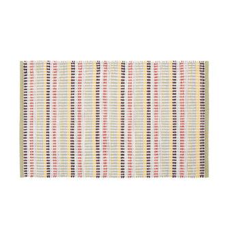 Kitchen mat with striped motif