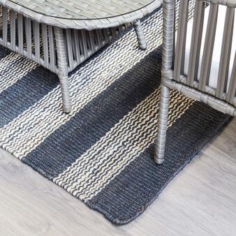 Hand-woven Jute rug.