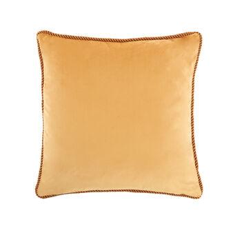 Solid colour velvet cushion 45x45cm