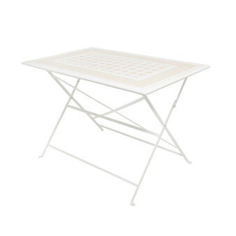 Essaouira folding table with mosaic in steel