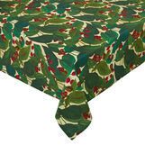 100% cotton water-repellent tablecloth with coffee plant print.