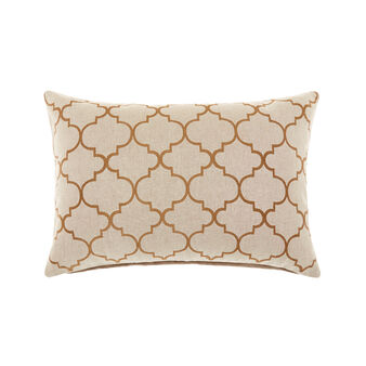 Morocco pattern embroidered cushion