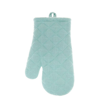Solid colour oven mitt in iridescent cotton