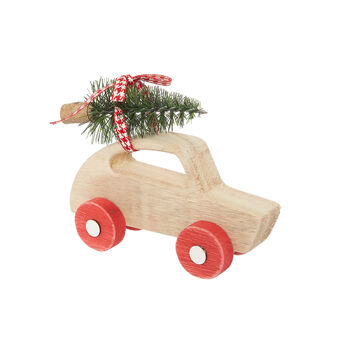 Decorative wooden car