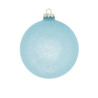 Hand-decorated bauble with glitter D8cm
