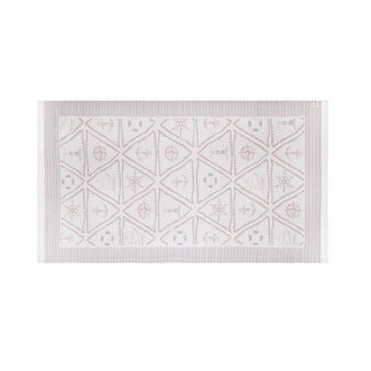 Lightweight cotton beach towel with triangles motif