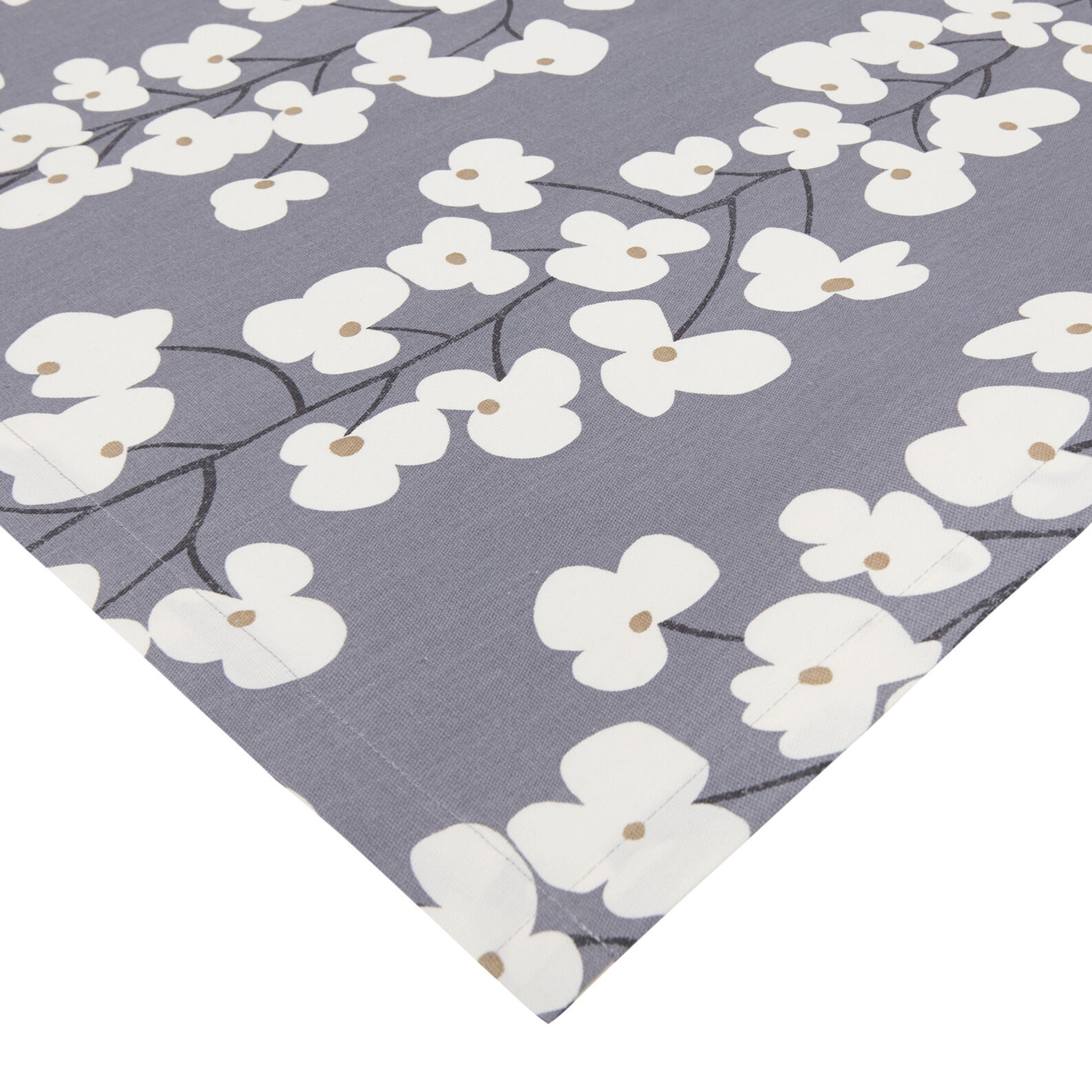 Cotton tablecloth with flowers print