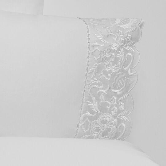 Portofino duvet cover in 100% cotton percale with lace