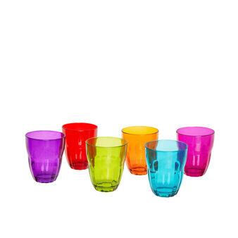 Set 6 bicchiere vetro colorato