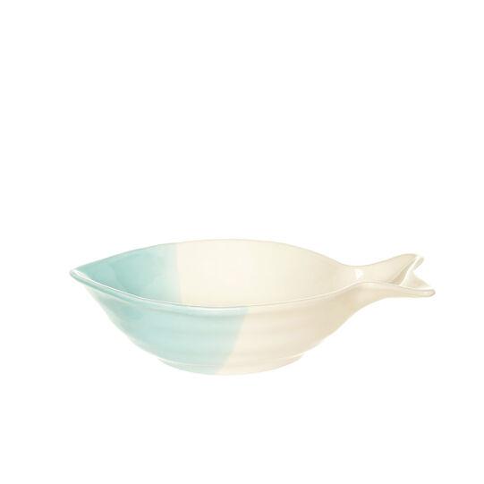 Portuguese ceramic bi-coloured fish dish