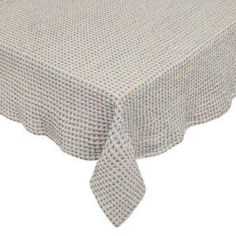 Waffle weave tablecloth in 100% cotton