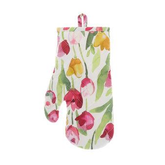 Guanto da cucina puro cotone stampa tulipani