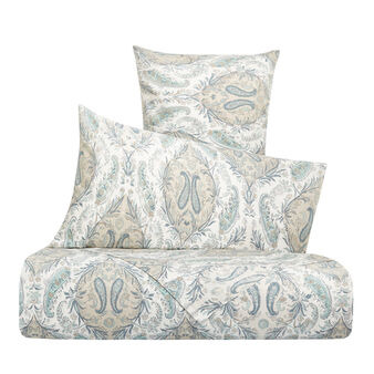 Cotton percale duvet cover set with paisley pattern