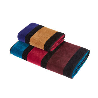 Striped cotton velour towel