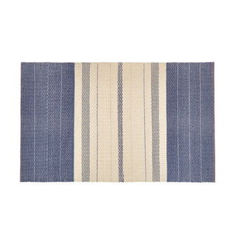 PVC fibre mat with striped jacquard design