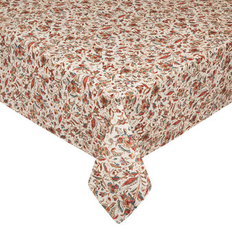 100% cotton tablecloth with vintage print
