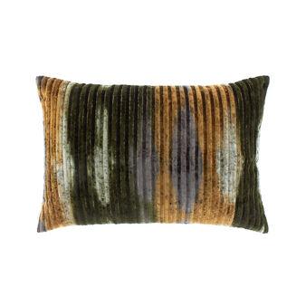 Cuscino rettangolare velluto righe multicolore