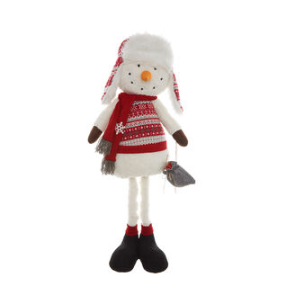 Decorative snowman soft toy