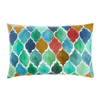Cotton percale pillowcase with Morocco pattern