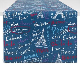 Runner puro cotone stampa Paris