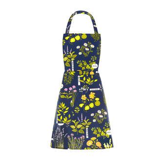 Bib apron in 100% cotton with Herbarium print