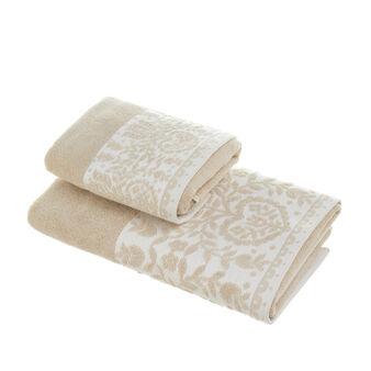 Asciugamano puro cotone balza jacquard