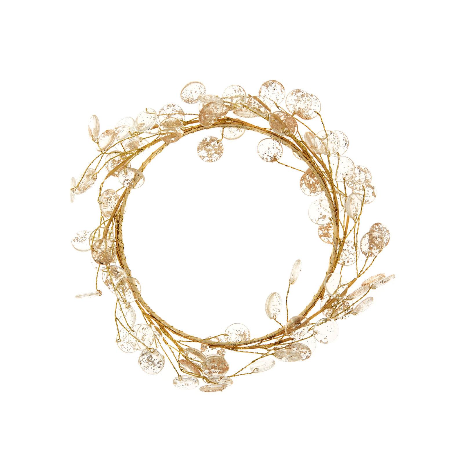 Corona decorativa cristalli