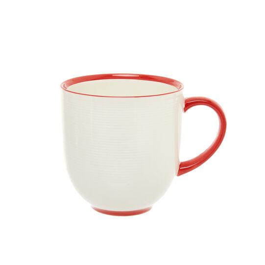 Mug in new bone china filo rosso