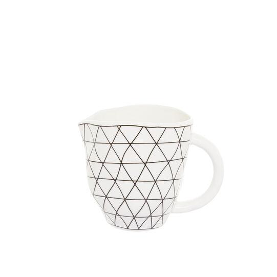 Lattiera porcellana motivo geometrico