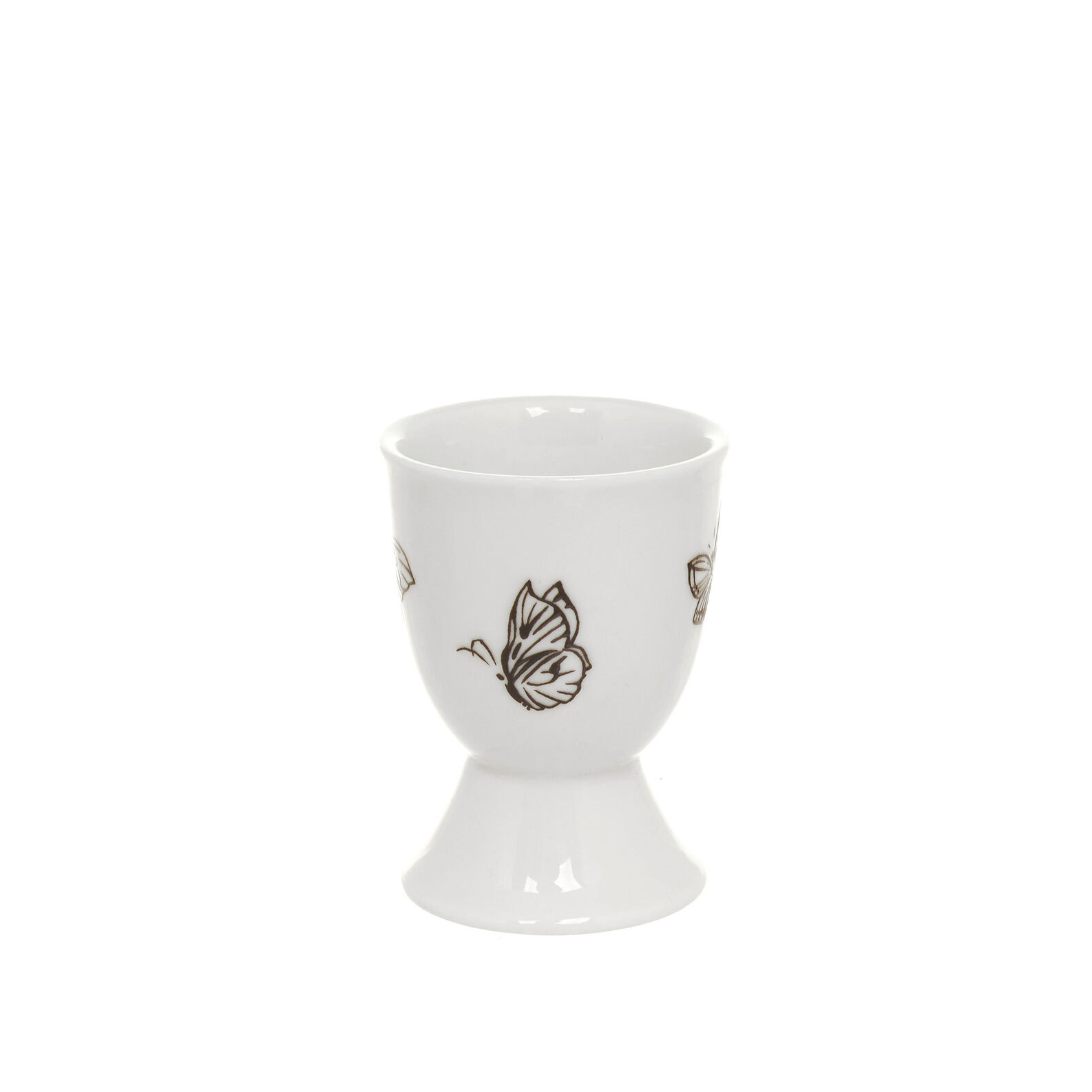 Egg holder in New Bone China with butterflies