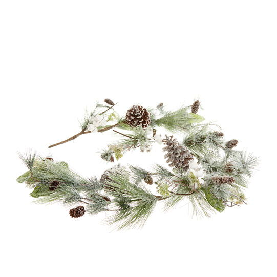 Decorative pine branch with pine cones