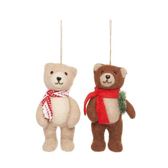 Teddy bear decoration in felt