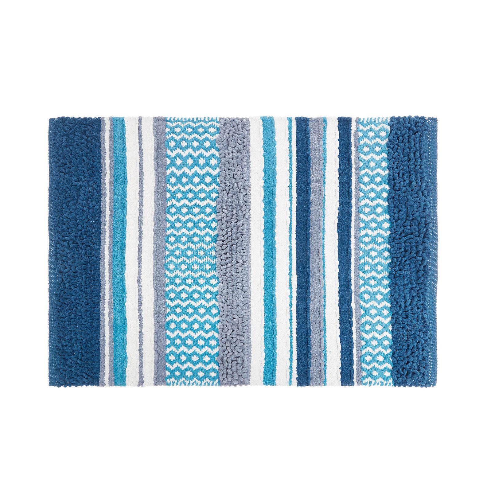 100% cotton bath mat with patchwork motif