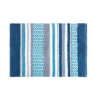 Tappeto bagno puro cotone motivo patchwork