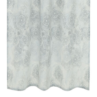 Curtain with floral print and hidden tabs