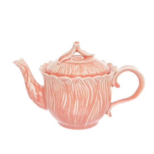 Porcelain flower-shaped teapot