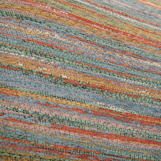 Micro-striped jacquard cushion 35 x 55 cm