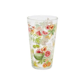 Bicchiere bibita vetro motivo tropicale