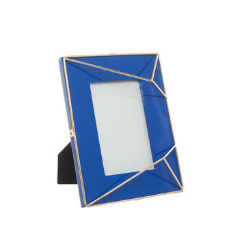 Polished lacquered photo frame with golden details