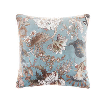 Velvet floral cushion 45x45cm