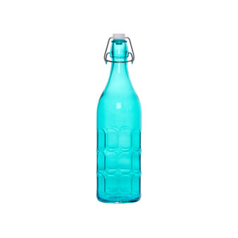 Coloured glass bottle