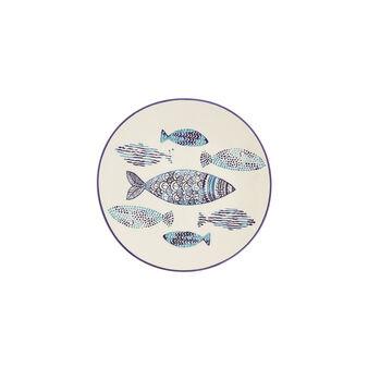 Piatto frutta ceramica pesci